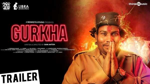 yogi babu and elyssa erhardt starrer gurkha official trailer out