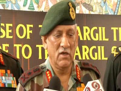 करगिल जैसी हरकत करने का दुस्साहस नहीं करेगा पाकिस्तान: सेना प्रमुख जनरल बिपिन रावत
