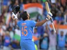 indian opener rohit sharma becomes first player to score five centuries in a world cup