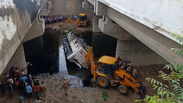 up at least 29 killed as passenger bus falls into gorge on yamuna expressway