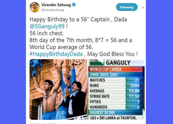 56 इंच का सीने वाला कप्तान: वीरेंदर सहवाग