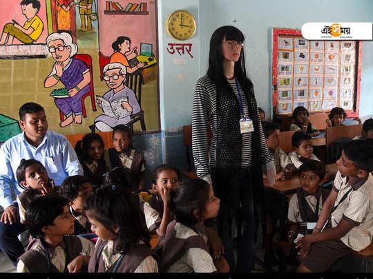 alexa turns teacher for school kids in amravati municipal corporation's warud school, 170 kms from nagpur