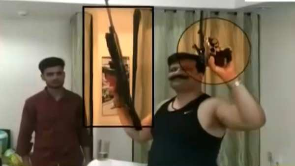 roorkee bjp mla champion says guns were unloaded licenced on viral video