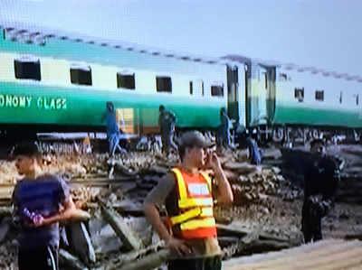 लाहौर ट्रेन हादसे की तस्वीर