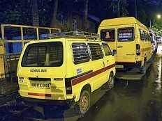 private maruti vans and eco cars have to take permit for working as school vans