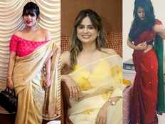 ladies are showing interest in posting their pictures in twitter with hashtag sareetwitter is now viral