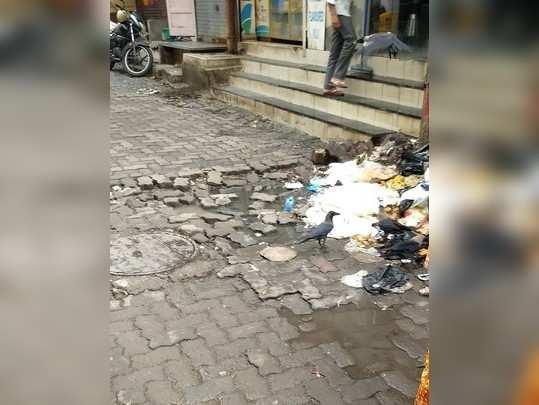 रस्त्यावर खड्डे बुजवा आणि कचरा हटवा