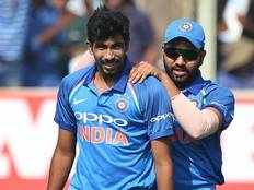 rohit sharma and jasprit bumrah included in icc world cup team of the tournament