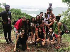 kumkum bhagya entire cast go for trekking along with sriti jha and shabir ahluwalia