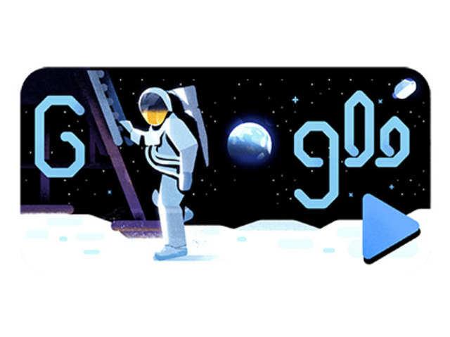 चांद पर पहले कदम को 50 साल पूरे, Apollo 11 मून मिशन के नाम Google Doodle