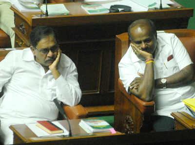 सदन में कर्नाटक के सीएम और डेप्युटी सीएम