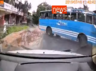the bus drifted across the damp road in malappuram