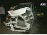 mercedes hit three crpf constables injured in car