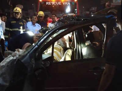 सड़क दुर्घटना में नौ लोगों की हुई मौत