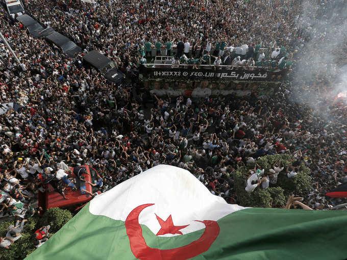 अफ्रीका कप ऑफ नेशंस चैंपियन अल्जीरिया का भव्य स्वागत