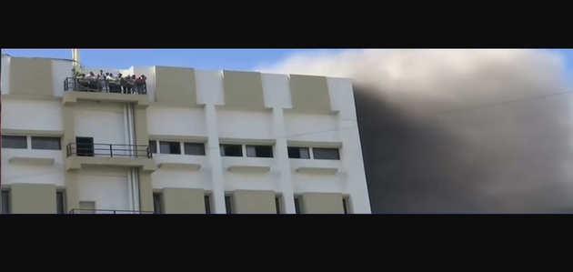 मुंबई: बांद्रा में MTNL बिल्डिंग में लगी भीषण आग