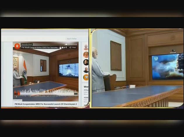 चंद्रयान-2: ऑडियो मैसेज के जरिए पीएम मोदी ने ISRO को दी बधाई