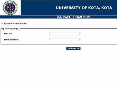 Kota University Result 2nd Year 2019: UOK Released BA 2nd Year