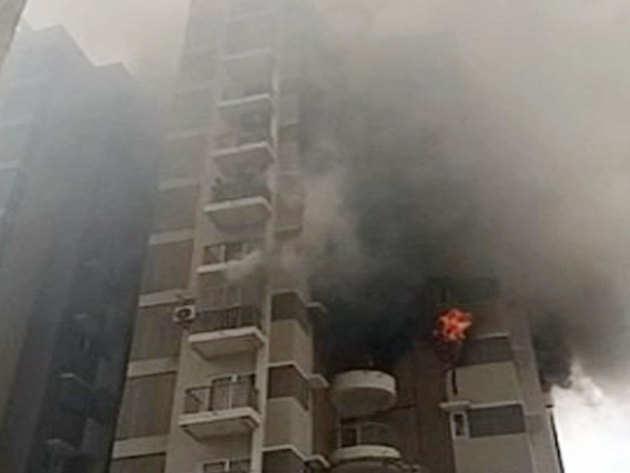 अहमदाबाद की बिल्डिंग में लगी आग