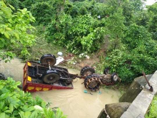 गोंदिया: ट्रॅक्टर नाल्यात उलटून ४ मजूर ठार; १३ जखमी