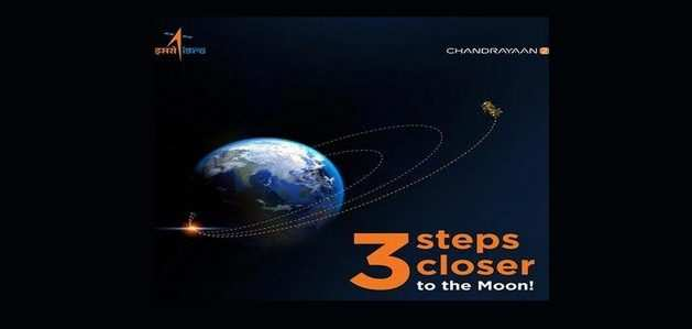चंद्रयान-2 ने पृथ्वी की तीसरी कक्षा में किया प्रवेश: Isro