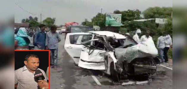 उन्नाव हादसा: चश्मदीद ने बताया, ट्रक चालक ने जानबूझ के मारी टक्कर