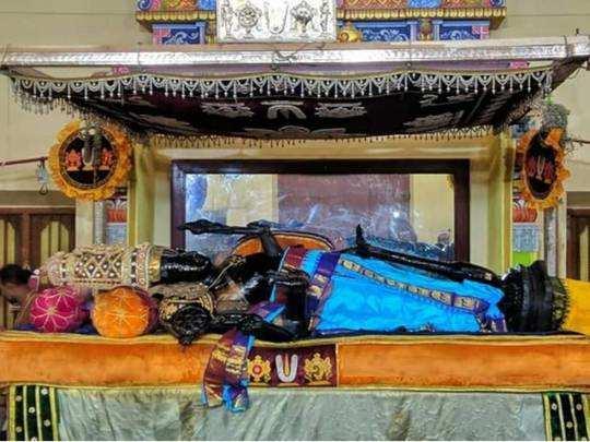 Athi Varadar Blue Dress