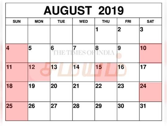 August-2019-Calendar