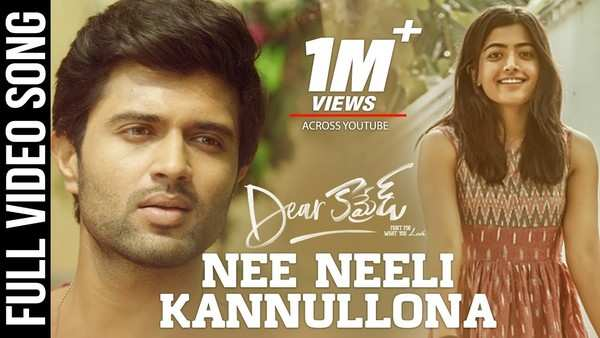 dear comrade movie telugu song nee neeli kannullona video