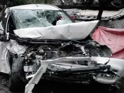 हादसे में दुर्घटनाग्रस्त कार