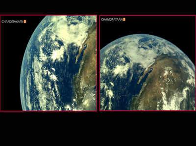 इसरो ने चंद्रयान-2 द्वारा खींची गई पृथ्वी की तस्वीरों का पहला सेट किया जारी