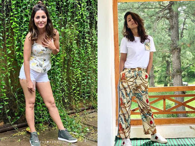 फैशन गोल्स दे रही हैं हिना खान