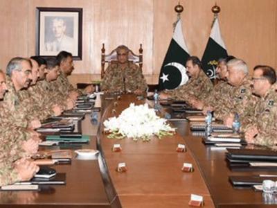कश्मीर पर पाक सेना की मीटिंग