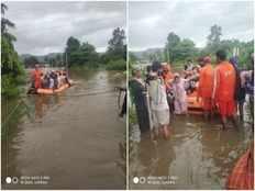 rescue boat capsizes in flood hit maharashtra 9 dead