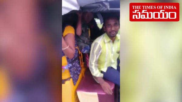 karimnagar auto with 24 passengers goes viral