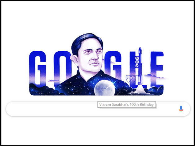 विक्रम साराभाई के जन्मदिन पर गूगल डूडल