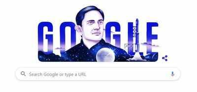 Google Doodle: भारत को अंतरिक्ष में पहुंचाने वाले विक्रम साराभाई को गूगल डूडल का सलाम