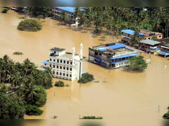 Malappuram: A view of a flood-affected region in Malappuram district, Kerala. (P...