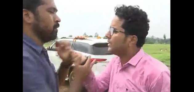 विडियो: प्रियंका गांधी के करीबी सहयोगी ने पत्रकार को धमकाया