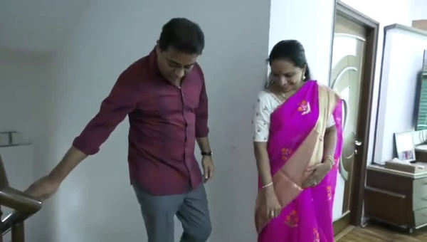 watch raksha bandhan celebrations at trs working president ktr residence