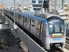hyderabad metro rail creats new record with above 3 lakh passingers per a day
