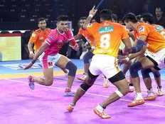 pro kabaddi league 2019 jaipur pink panthers beat puneri paltan