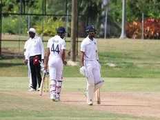 india vs west indies a practice match cheteshwar pujara slams century