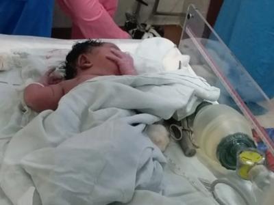 एम्स में जन्मी बच्ची