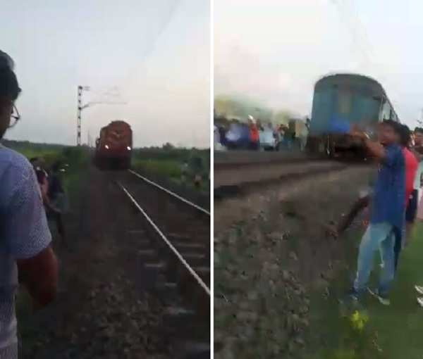 watch visakha express goes without rail coaches in ap
