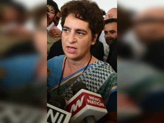 Mirzapur: Congress General Secretary Priyanka Gandhi Vadra speaks to media perso...