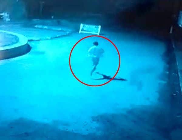 tollywood actor raj tarun car accident cctv footage