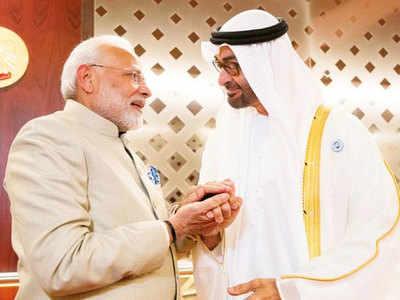 UAE में पीएम मोदी का जोरदार स्वागत