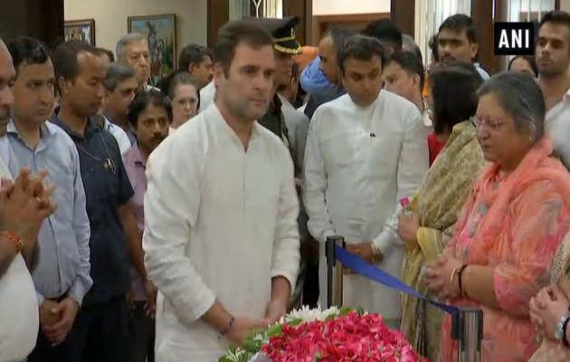 अरुण जेटली को कांग्रेस नेताओं ने दी श्रद्धांजलि
