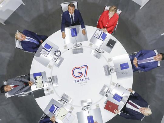जी 7 बैठक की तस्वीर